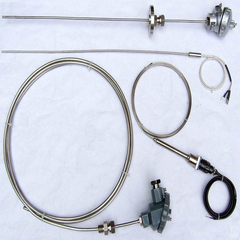 Armored platinum rhodium thermocouple