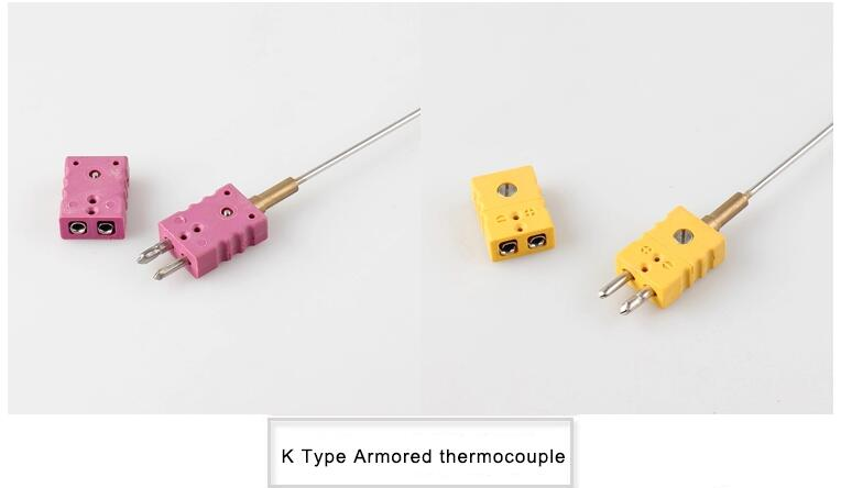 k type Mineral insulated Thermocouple with connector