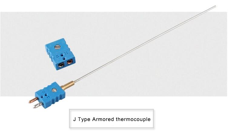 J type Mineral insulated Thermocouple with connector